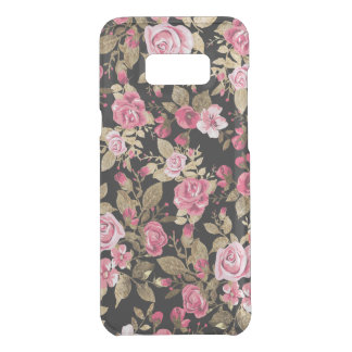 Elegant spring floral gold pattern uncommon samsung galaxy s8 plus case