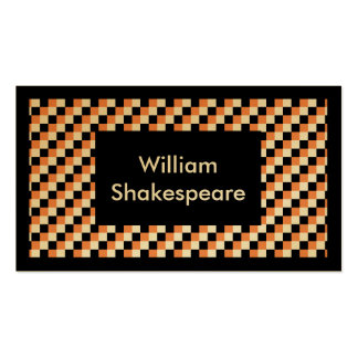 Elegant Square Pattern Pack Of Standard Business Cards