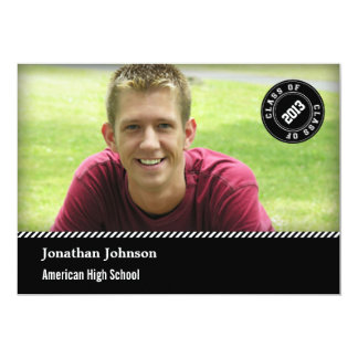 Elegant Stamp Photo Graduation Announcement