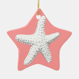 Elegant Starfish Sea Star Christmas Tree Ornaments