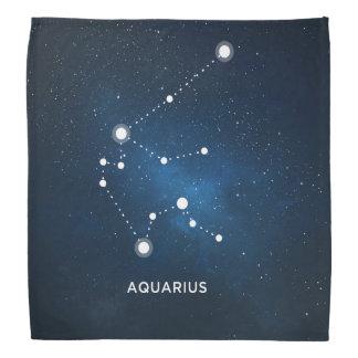 ELEGANT STARRY BLUE WATERCOLOR UNIVERSE - AQUARIUS BANDANNAS