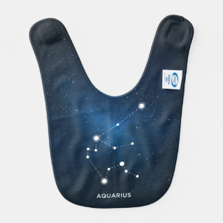 ELEGANT STARRY BLUE WATERCOLOR UNIVERSE - AQUARIUS BIB