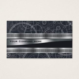 elegant steampunk engineers business card