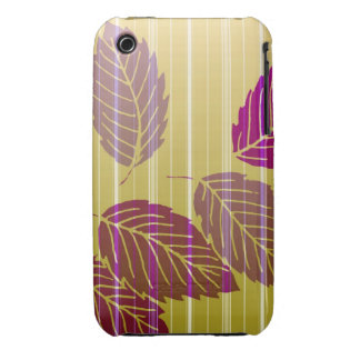 Elegant Striped Leaves iPhone 3 Covers