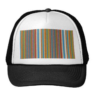 Elegant STRIPES Template DIY add edit TEXT PHOTO Mesh Hat