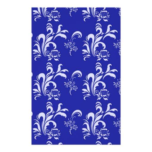 elegant, stylish and classic white damask pattern custom flyer