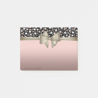 Elegant Stylish, Bow,Polka Dots Post-it Notes