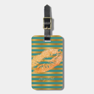 Elegant Stylish Chic - Glittery Lips,Personalized Luggage Tag