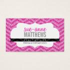 ELEGANT stylish cool chevron pattern glitter pink Business Card