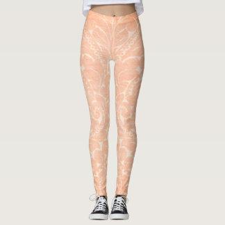 Elegant Stylish  Damask Pattern Leggings