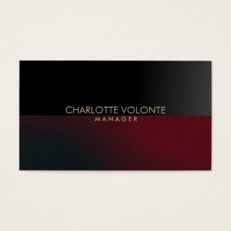 Elegant Stylish Dark Grey Red Artwork Professional