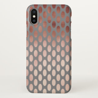 elegant stylish faux rose gold polka dots pattern iPhone x case