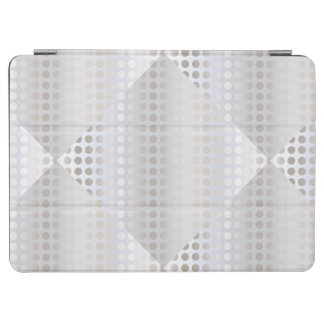 Elegant stylish faux silver polka dots pattern iPad air cover