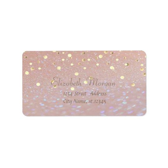 Elegant  Stylish ,Fux Gold Foil Confetti Label