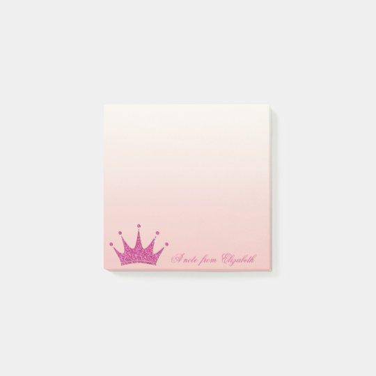 Elegant Stylish Girly ,Glittery Tiara Post-it Notes