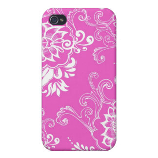 Elegant, stylish. girly lucky pink floral iPhone 4 covers