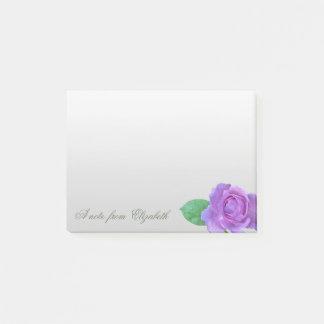 Elegant Stylish Girly ,Purple Rose Post-it Notes