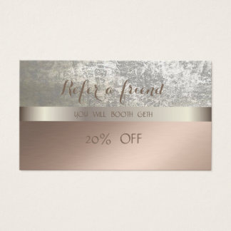 Elegant Stylish Glamorous   Referral Card