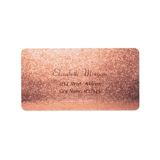 Elegant Stylish  Glittery Label