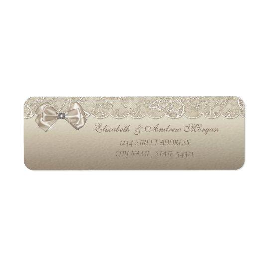 Elegant  Stylish Lace,Bow  Address Label
