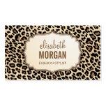 Elegant Stylish Leopard Print Girly Pattern Pack Of Standard Business Cards