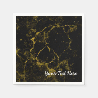 elegant stylish modern chic black and gold marble disposable napkin