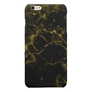 elegant stylish modern chic black and gold marble iPhone 6 plus case