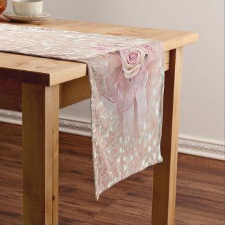 Elegant stylish Modern,Glittery, Roses Short Table Runner