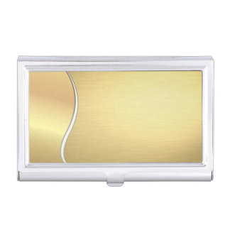 Elegant Stylish Proffesional- Faux Gold Business Card Holder