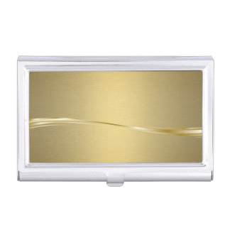 Elegant Stylish Proffesional- Gold- Business Card Holder