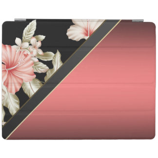 Elegant Stylish Red,Floral iPad Cover