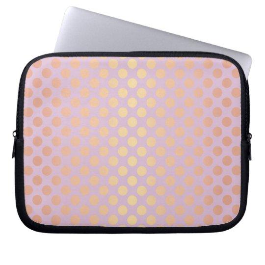 Elegant stylish rose gold polka dots pattern pink