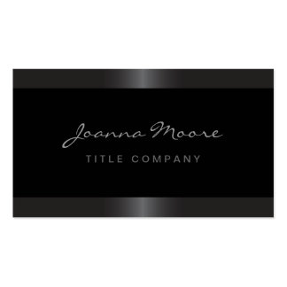 Elegant stylish satin gray border black pack of standard business cards