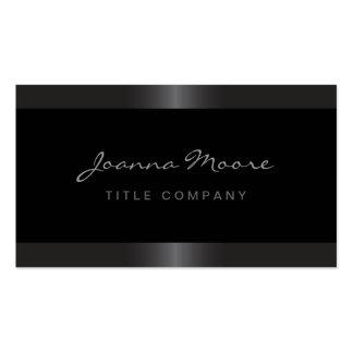 Elegant stylish satin grey border black pack of standard business cards