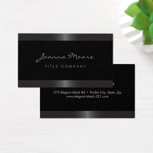 Elegant stylish satin grey border black business card
