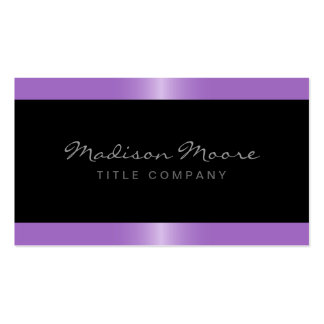 Elegant stylish satin lavender purple border black pack of standard business cards