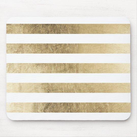 Elegant stylish trendy faux gold modern stripe mouse