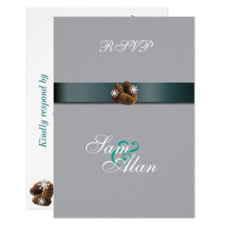 Elegant, Stylish Winter Wedding RSVP Card