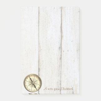 Elegant Stylish ,Wood Texture,Nautical Compass Post-it Notes