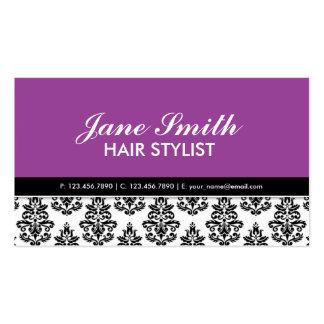 Elegant Stylist Salon Hairdresser Floral Pattern Double-Sided Standard Business Cards (Pack Of 100)