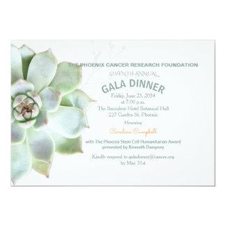 Elegant Succulent Gala Dinner Invitation