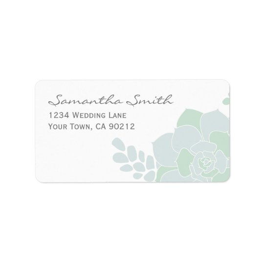 Elegant Succulent Wedding Labels