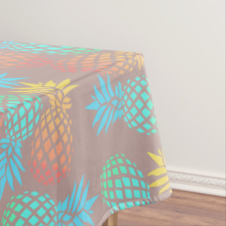 elegant summer tropical colorful pineapple pattern tablecloth