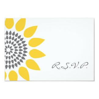 Elegant Sunflower RSVP 9 Cm X 13 Cm Invitation Card