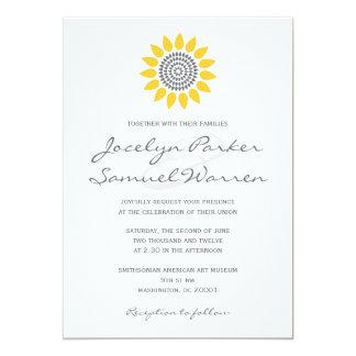 Elegant Sunflower Wedding 13 Cm X 18 Cm Invitation Card