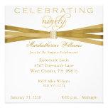 Elegant Surprise 90th Birthday Party Invitations