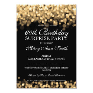 Surprise 60th Birthday Invitations Announcements Zazzle Uk