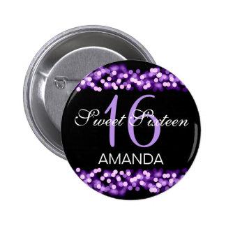 Elegant Sweet 16 Birthday Hollywood Glam Purple 6 Cm Round Badge