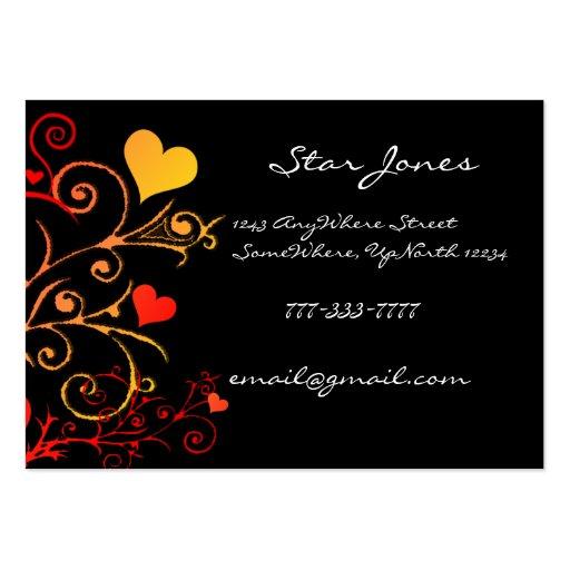 Elegant Swirl Heart  Business Card