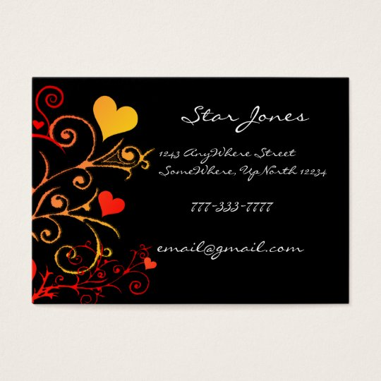 Elegant Swirl Heart  Business Card